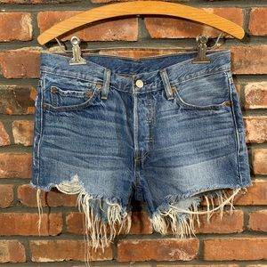 Levi's 501 High Rise Button Fly Cutoff Jean Shorts